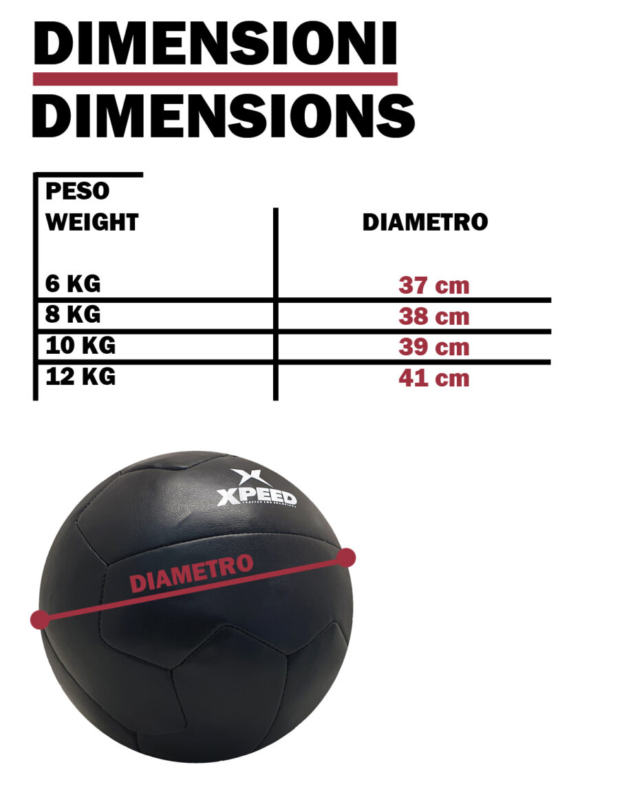 Wall Ball Black da 6/8/10/12 kg multifunzione