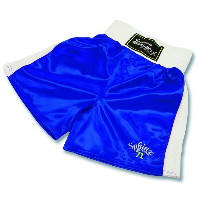 pantaloncino, boxe, blu,  shorts, raso