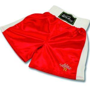 pantaloncino, boxe, rosso, shorts, raso