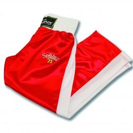 pantalone, raso, rosso, kickboxing