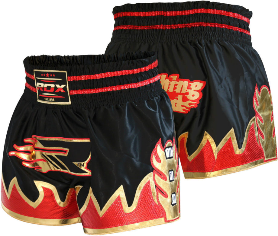 Pantaloncino, pantaloncino MuayThai, pantaloncino rosso nero, shorts muay thai