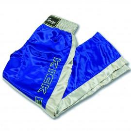pantalone, blu, raso, kickboxing