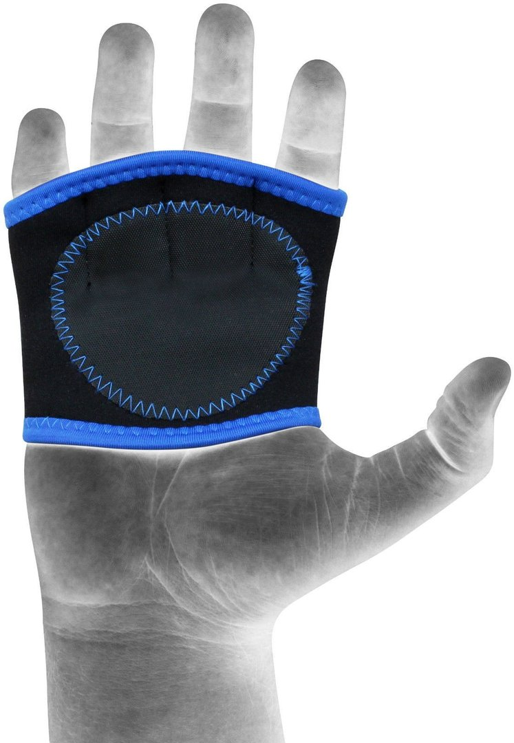presine palestra neoprene blu, gym, fitness, protezione mani, rdx, blu, trazioni, sollevamento