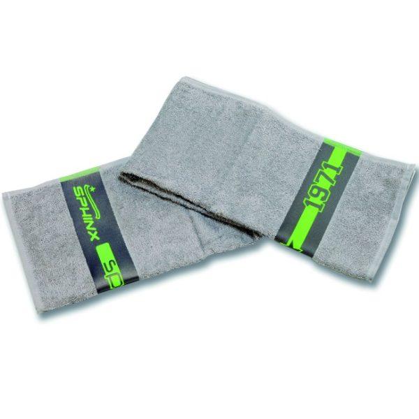 asciugamano, collo, grigio