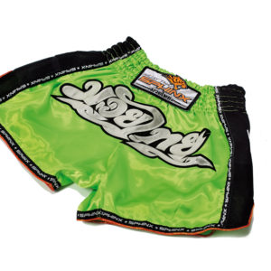 pantaloncini verdi fluo, pantaloncini muay thai, pantaloncini kickboxing, shorts, pantaloncini verdi