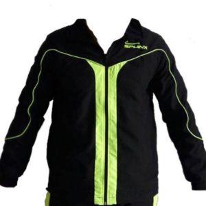 giacca, tuta, nera, verde